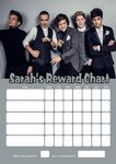 Personalised One Direction Reward Chart (adding photo option available)